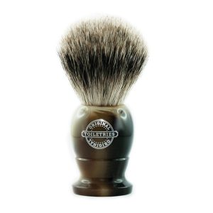 BEST-BADGER-SHAVING-BRUSH-HORN